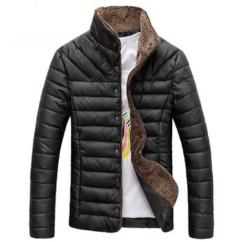 Men Winter Jacket Warm Casual Solid