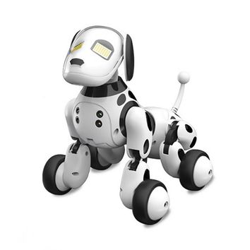 Intelligent Interactive Robot Puppy With Wireless Remote Control Dog Toy That Sings, Dances, Eye Mode, Speaks for Boys/Girls - Perfect Gift for Kids