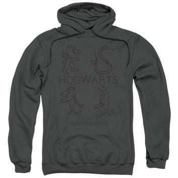 Harry Potter Literary Crests Licensed Adult Hoodie