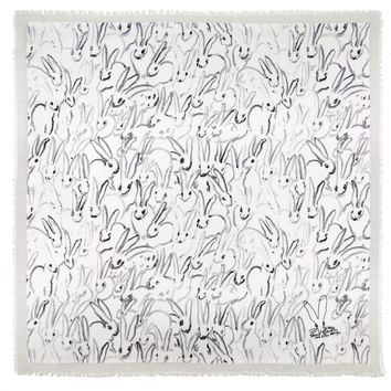hunt slonem limited edition bunny hutch square scarf - prints & patterns - scarfs & wraps