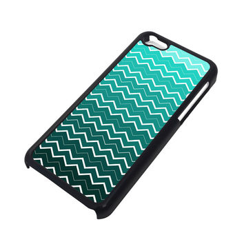 OMBRE TEAL CHEVRON Pattern iPhone 5C Case