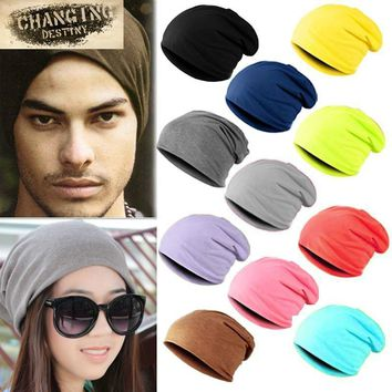 Women / Men Unisex Cotton Blend Slouch Beanie/ Hat