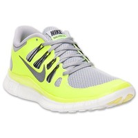 NIKE Free 5.0+ Ladies Running Shoes, Yellow/Grey, US8