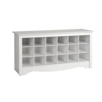 Prepac Monterey Shoe Storage Cubbie Bench WSS-4824 at The Home Depot - Mobile