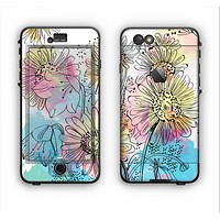 The Colorful WaterColor Floral Apple iPhone 6 LifeProof Nuud Case Skin Set