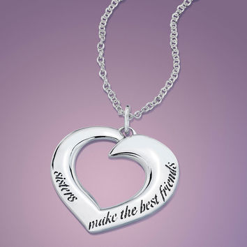 Sisters Make The Best Friends Sterling Silver
