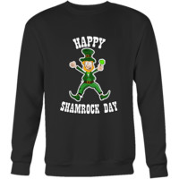 "Saint Patrick's Day - "" Happy Shamrock Day "" - custom made  funny t-shirts, original gifts."
