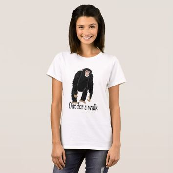 Chimp out for a walk T-Shirt