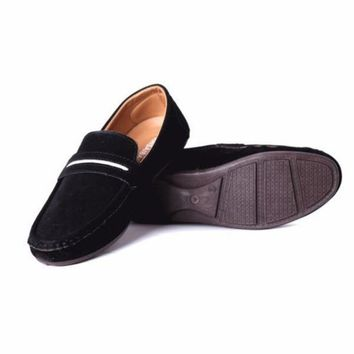 PEAP2Q Mens Suede Style Loafers