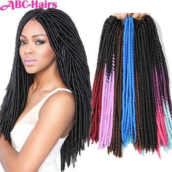 "18"" 16 Roots 80g/pack Best Quality Crochet Hairs Extensions Ombre Kanekalon Braiding Hairs Crochet Braids New Hair Extensions"