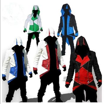 Cosplay Assurance  Men's jacket anime clothes Assassins Creed Costume Halloween Costume suit adult and Kid T6874