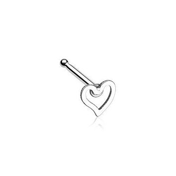 Dainty Heart Icon Nose Stud Ring