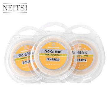 Neitsi 3PCS 1.27cm * 3Yards NO-SHINE BONDING Hair System US Walker Tape Double Side Adhesive Tape For Skin Weft Hair Extensions