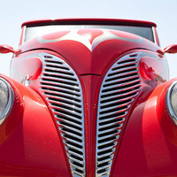 Classic Car Photograph, Red Vintage Ford Wall Art by Eden A. Manus