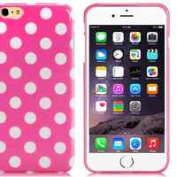 Polka Dot Rubber Shell Case for iPhone 6\6s Plus