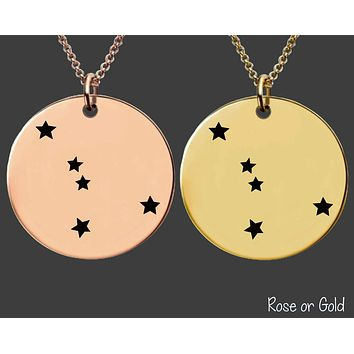 Cancer Constellation Necklace | Rose Gold or Gold Zodiac Necklace