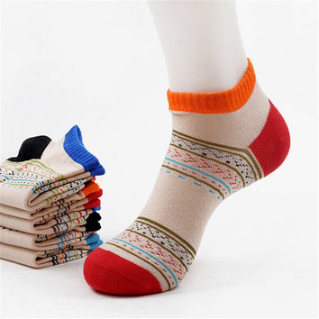 2016 New Womens Girls Bohemian Casual Sports Ankle Socks (5 PCS) Socks-25
