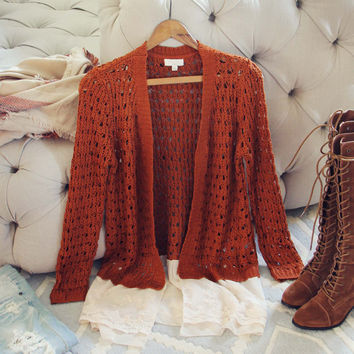 Lace & Copper Sweater