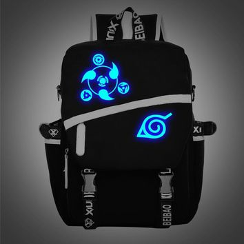 Hokage Ninjia Naruto Noctilucent Teenagers School Bags Backpacks Japanese Anime Bag Shoulder Bag Kids Travel Bag Mochila Escolar