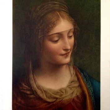 Virgin Mary Print by CasaAndCo on Etsy