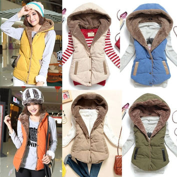Women European Winter Coral Fleece Sleeveless Lapel Warm Vest Coat Jacket Tops 5 7_S = 1931512708