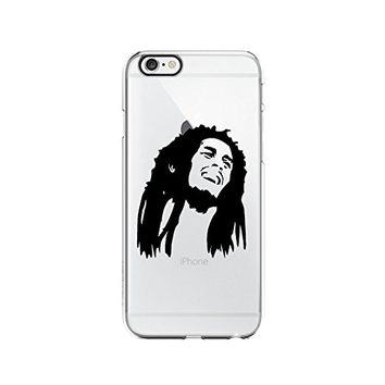 Bob Marley Get High Transparent Silicone Plastic Phone Case for iphone 6 _ LOKIshop (iphone 6) (iphone 6)