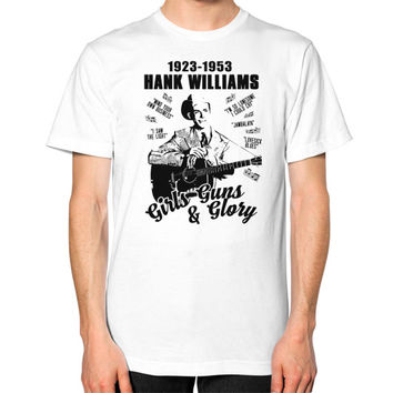 Hank williams Unisex T-Shirt (on man)