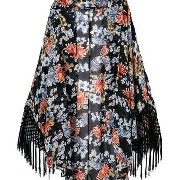 Print Tassels Casual Fashion Tops Jacket [5013029060]