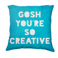 Retro Inspired Home Decor, Gosh, Creative Typography Throw Pillow, Expressions for The Home - $35.00 - Handmade Home Decor, Crafts and Unique Gifts by The Gosh Shop