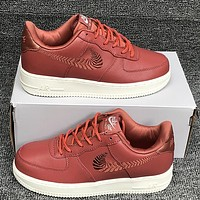 NIKE AIR FORCE 1 PRM EMB Women's Casual Knit Crochet Sneakers