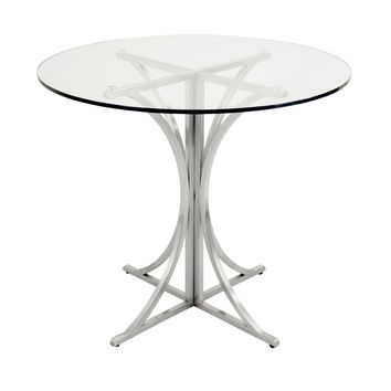 Boro Dining Table Clear, Silver