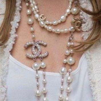 DCCKHNW Women necklace With Pearl