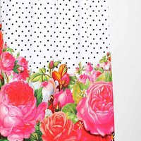 Allyson Johnson For DENY Bold Florals + Dots Shower Curtain- Multi One