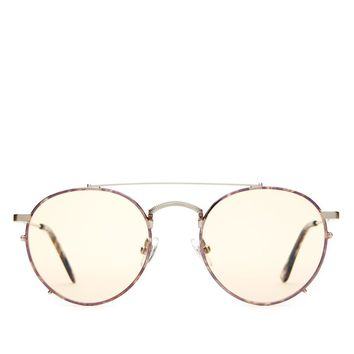 Crap Eyewear - The Tuff Safari - Brushed Silver & Espresso Tortoise / Gold Tint