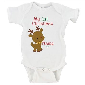 My First Christmas 2016 Custom Name Gerber Onesuit ® Christmas Gift