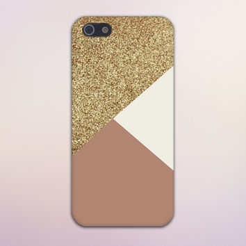 Geometric Gold Glitter x Dark Pink Design Case for iPhone 6 6 Plus iPhone 5 5s 5c iPhone 4 4s Samsung Galaxy s5 s4 & s3 and Note 4 3 2