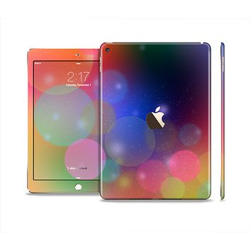 The Unfocused Color Rainbow Bubbles Skin Set for the Apple iPad Pro