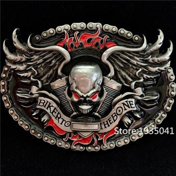 Belt Buckle Man and Woman Biker