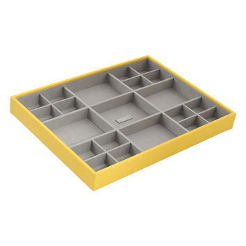 WOLF Women's Stackables Large Standard Yellow Jewelry Tray - Yellow