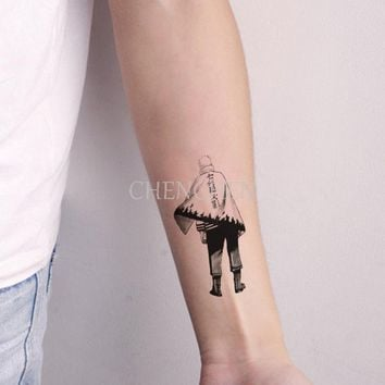 Temporary Tattoo sticker for body art Japanese Naruto manga  water transfer flash tattoo fake tatoo for girl women men tattoos