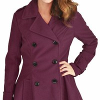 Urban Republic Juniors Long Wool Peacoat Plus Size Avail