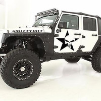 Punisher Star Jeep Wrangler Car vinyl graphics off-road Star with skull tr1884