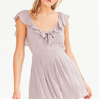 Kimchi Blue Joanne Ruffle Tie-Neck Romper - Urban Outfitters