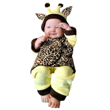 Unisex Baby Giraffe Halloween Clothing Costume 4 Piece Set