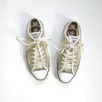 20% OFF SALE. 80s Converse All Star Low tops. CLEAR tennis shoes.