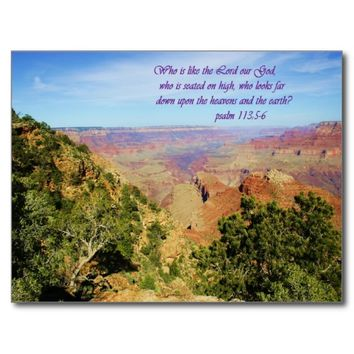 Beautiful Grand Canyon Photo with Bible Verse Postcard