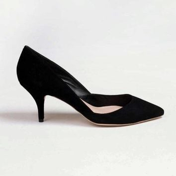 Jolie Pump Black Kid Suede