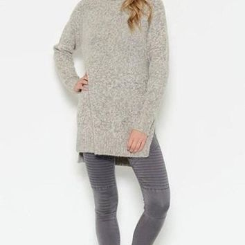 Bridget Hi-Low Turtleneck Sweater