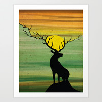 deer Art Print by Nostromo
