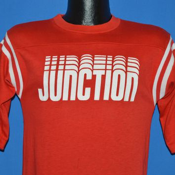 80s Junction Red Striped Sleeves Jersey t-shirt Small